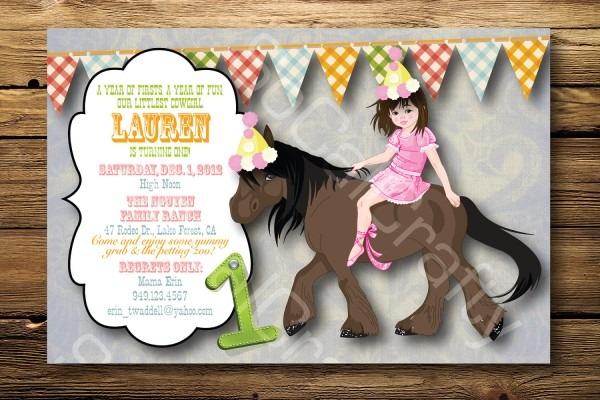 Pony Party Invitation Lovely Horse Party Invitations