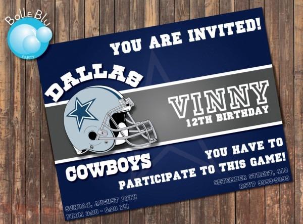 How To Dallas Cowboys Birthday Invitations Best Free Printable