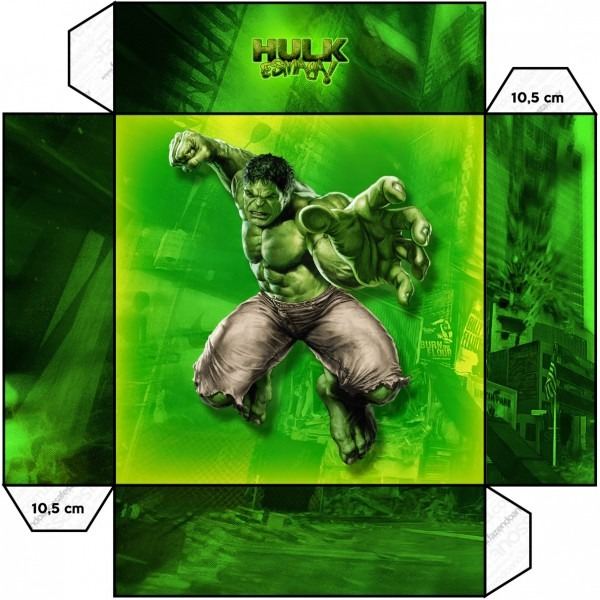 Hulk Free Printable Boxes