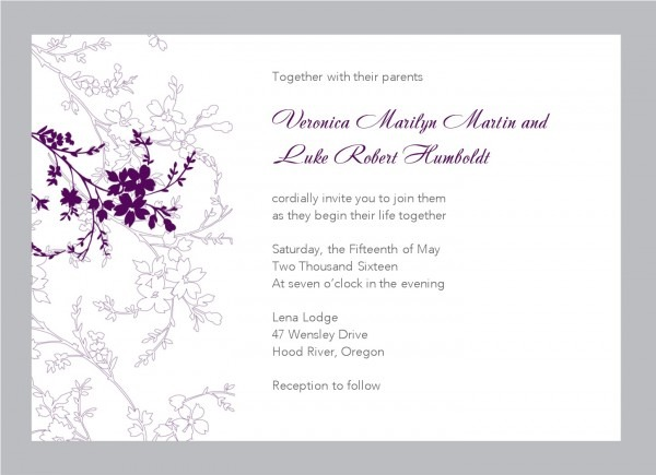 Ideas Wedding Invitation Card Template Free Download In Picture