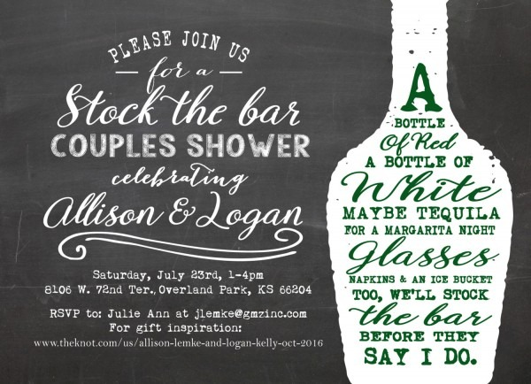 Stock The Bar Shower Invitation Couples Shower Invite