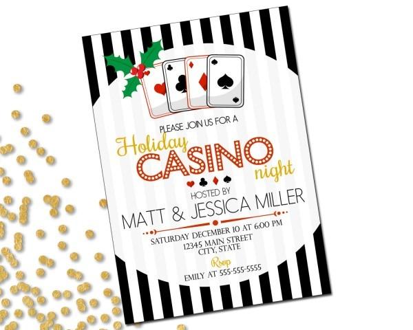 Holiday Party Invitation Casino Holiday Party Casino Night