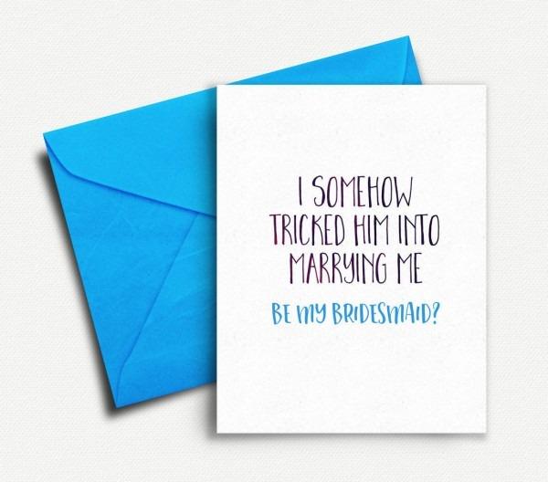Will You Be My Bridesmaid Card Funny, Bridesmaid Proposal