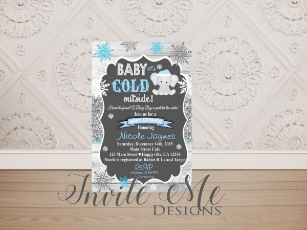 Baby It's Cold Outside Baby Shower Invitation Baby