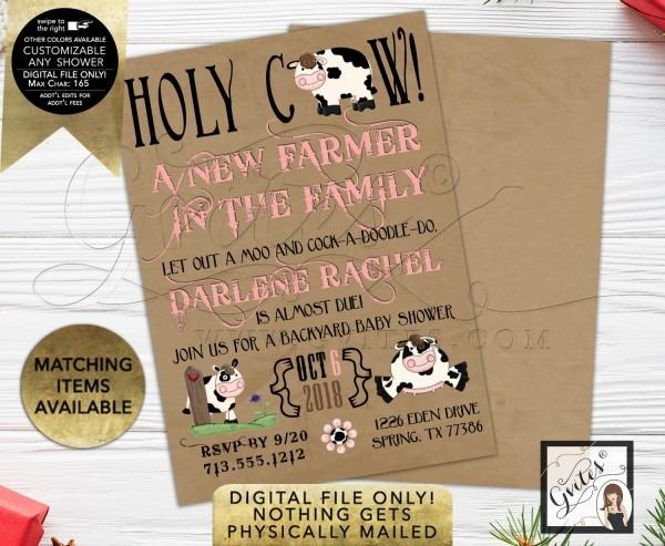 Farm Baby Shower Invitation
