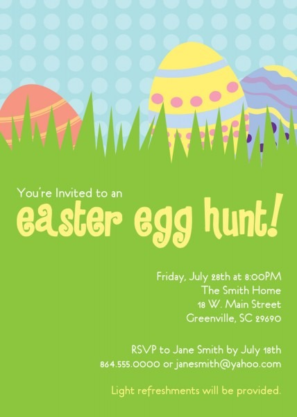 Easter Egg Hunt Invitations, Party, Dinner, Birthday, Get Together
