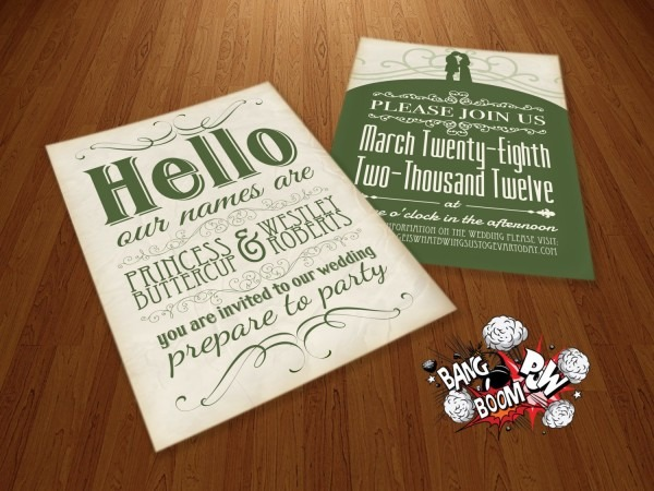 The Princess Bride Wedding Invitations