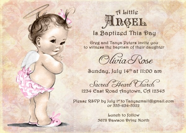 Baptism Invitation For Girl Christening Invitation For Girl
