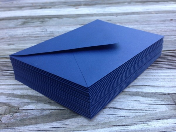 50 A7 Navy Blue Envelopes 5x7 Invitation Or A1 4bar Rsvp