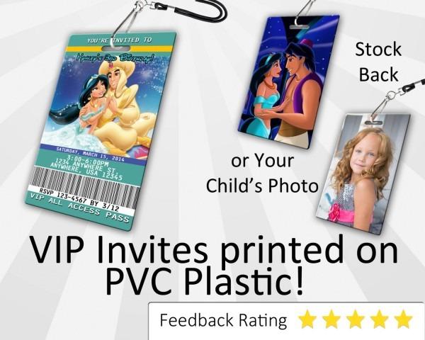Aladdin Birthday Invitation Plastic Aladdin Birthday Aladdin