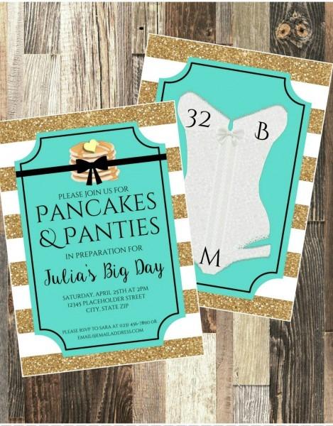Lingerie Invite Bridal Shower Invite Pancakes And Panties