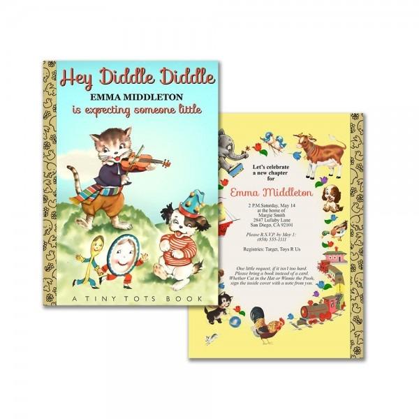 Nursery Rhyme Book Baby Shower Invitation   Printable