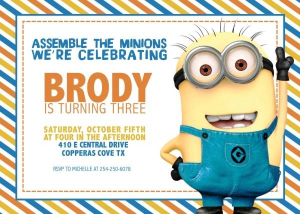 Il Fullxfull C Vintage Minions Birthday Invitations Free Online