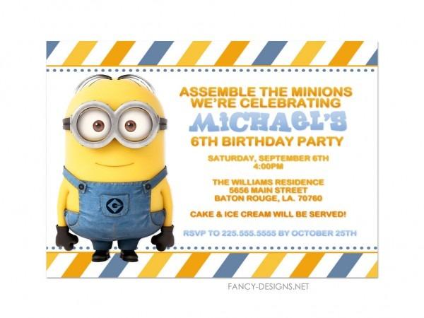 Il Fullxfull Gba Unique Minion Party Invites