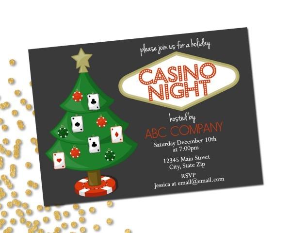 Casino Theme Party Invitations Template Recent Casino Night