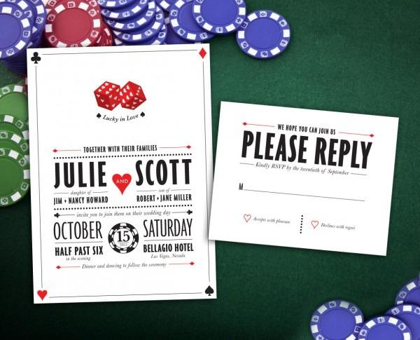 Wedding Ideas  Las Vegas Wedding Invitations