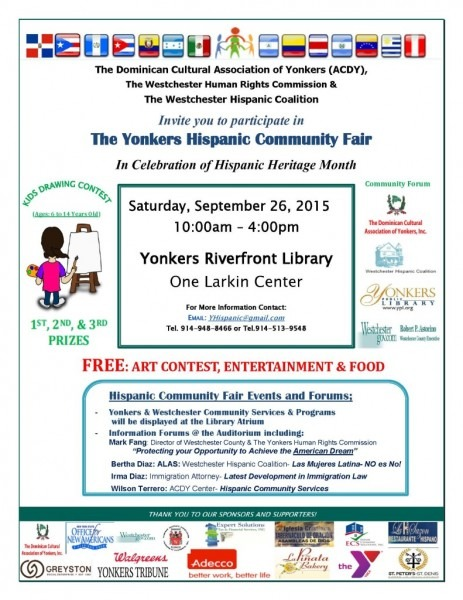 Invitation To Celebrate Hispanic Heritage Month At The Yonkers