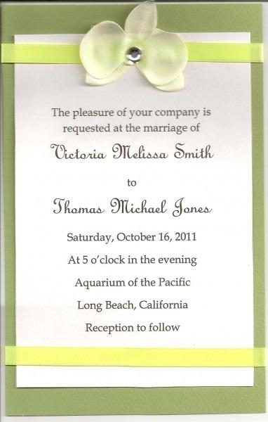 Diy Wedding Invitations, Simple Wedding Invitations Using