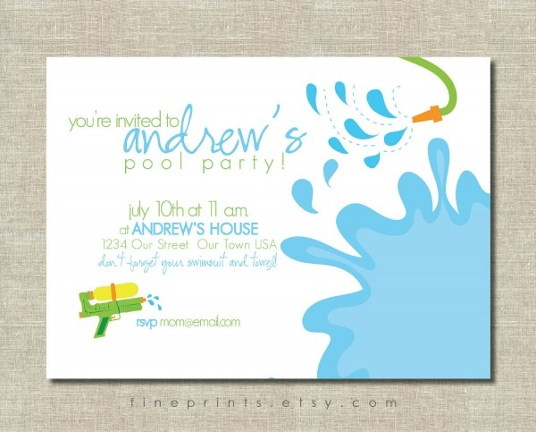 Images About Water Park Backyard Birthday Party On Best Party Invitation Collection