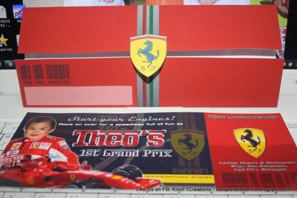 F1 Digital Scrapaholic  Theo's F1 Theme Birthday Invitation And