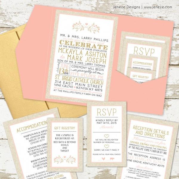 Incredible Wedding In Invitations Pocket Wedding Invites Jeneze