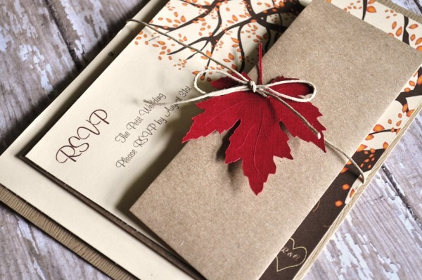 Incredible Wedding Invitations Cheap Packages Fall Wedding