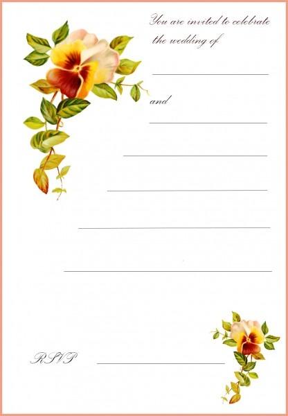 Incredible Wedding Invitations Printable Wedding Card Invitation