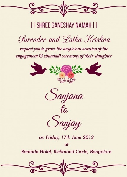 Indian Wedding Invitation Quotes For Friends Beautiful Free