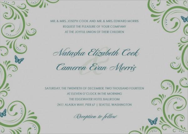 Inspirational Wedding Invitations Templates Free Email Invitation