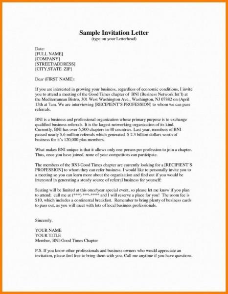 Invitation Letter Format Sample Product Presentati Presentation