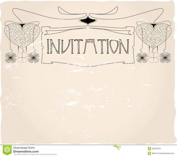 Invitation Template, Stock Vector  Illustration Of Birthday