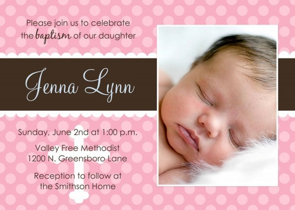 Baby Girl Baptism Invitation Free Templates Awesome Design