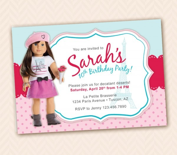 Birthday Party Invitation Template In French • Invitation Template