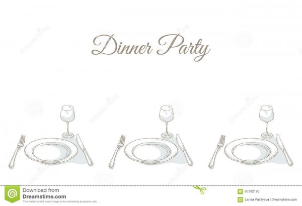 Invitation To A Dinner Party Stock Vector