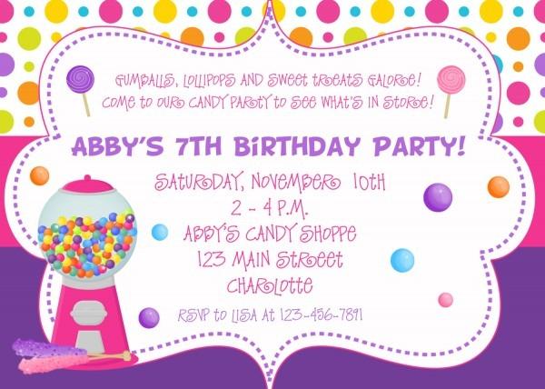 Invitations To Birthday Party — Birthday Invitation Examples