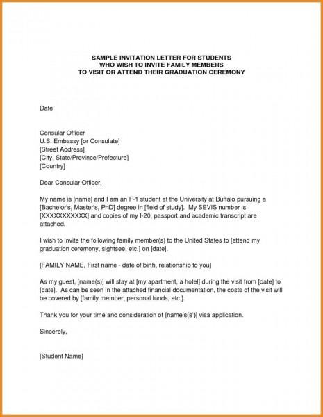 Invite Letter For Tourist Visa Us Sample Invitation Visa Letter