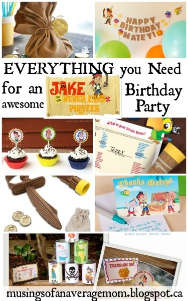 Musings Of An Average Mom  Free Printable Jake Party