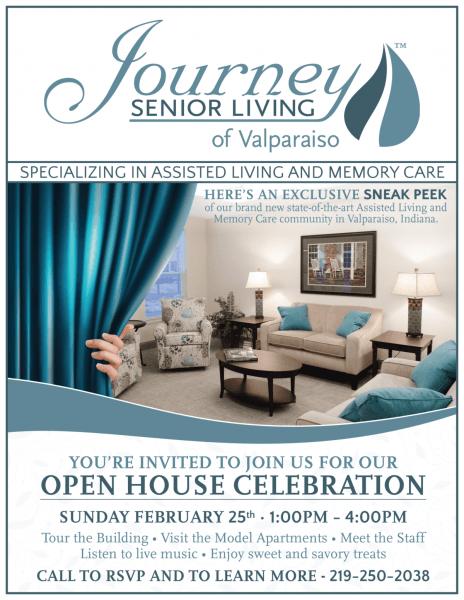 Journey Senior Living Of Valparaiso Open House February 25, 2018