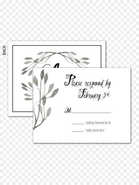 Wedding Invitation Paper Calligraphy Rsvp