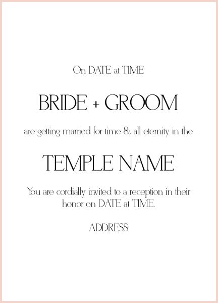 Invitation Wording Cheat Sheet Blank Templates Of Wedding