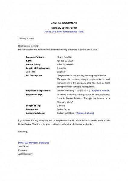 Letter Format Best Solutions Of Sample Sponsor For Australian