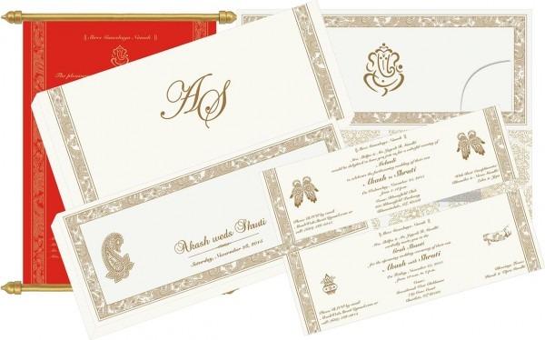 Scroll Wedding Invitations