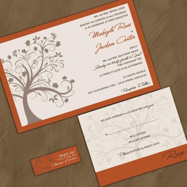 Lovable Wedding Invitations Canada Fall Wedding Invitations Cheap