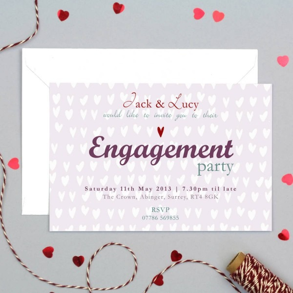 Love Themed Engagement Party Invite Card