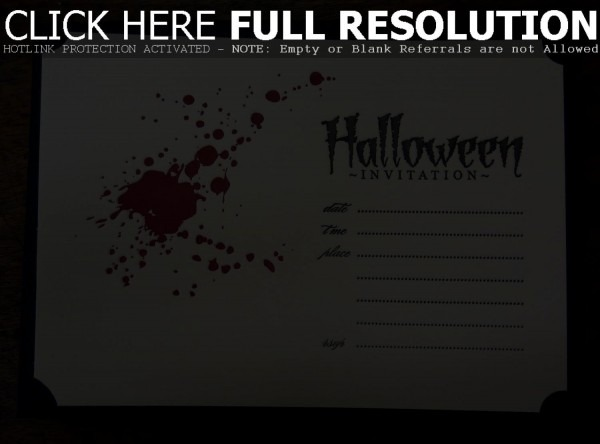 Awesome Halloween Invite Template On Invitations Cards Inspiration