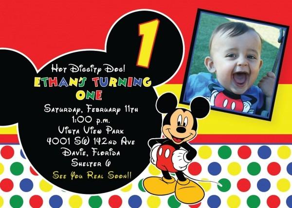 Luxury Mickey Mouse Birthday Invitation Template