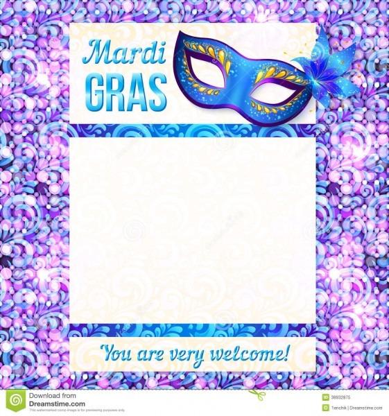 Mardi Gras Carnival Vector Poster Template Stock Vector
