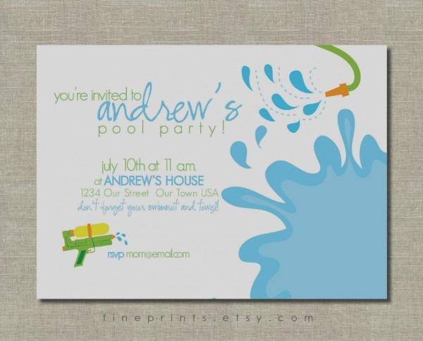 Marvelous Free Printable Pool Party Invitations