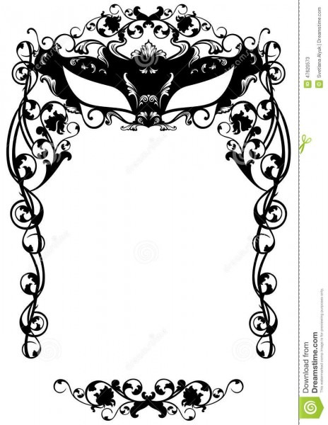 Masked Ball Invitation To Masquerade Party Carnival Mask Black
