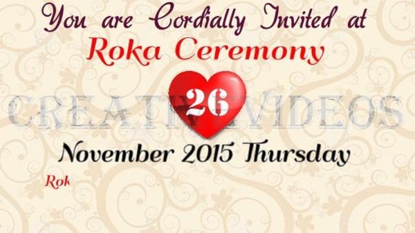 Roka Ceremony Invitation For Whatsapp (creativevideos)